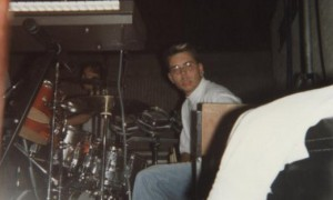 Léo am Drumset 1988