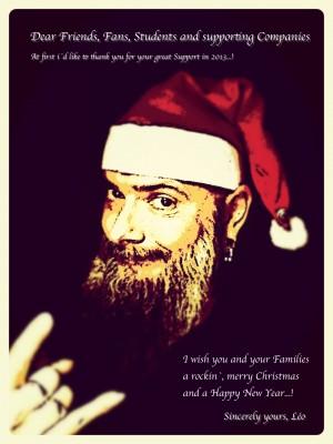 Weihnachtskarte Léo 2013