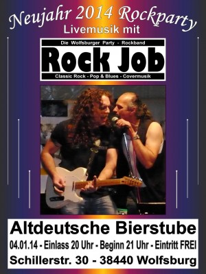 Rock Job Flyer Bierstube Din A3 04.01.14